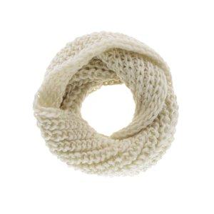Fular circular alb fildeș Madonna Olivia