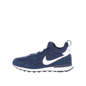 Pantofi sport albaștri Nike Internationalist Mid cu detalii cu aspect de piele întoarsă