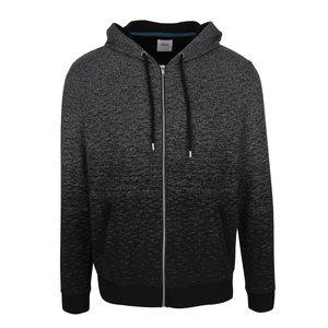 Hanorac gri & negru Burton Menswear London cu model discret