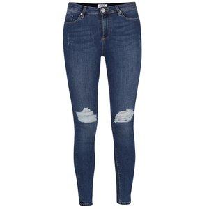 Jeanși skinny albaștri cu aspect uzat Miss Selfridge la pretul de 199.99