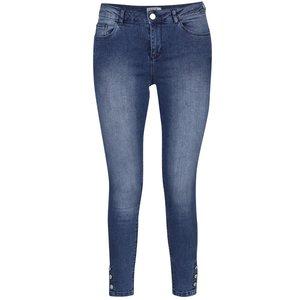 Jeanși skinny albaștri cu aspect prespălat Miss Selfridge la pretul de 189.99