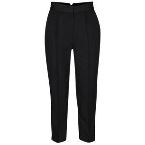 Pantaloni negri Miss Selfridge cu talie înaltă