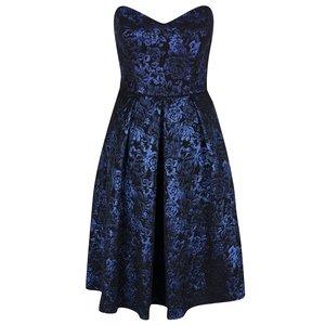 Rochie neagră cu model floral albastru Miss Selfridge la pretul de 379.99