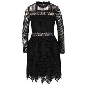 Rochie neagră din dantelă Miss Selfridge