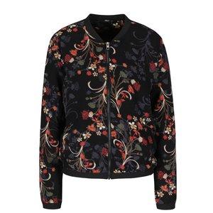 ONLY, Jachetă bomber neagră cu imprimeu floral ONLY Nova