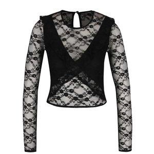Bluză neagră Miss Selfridge din dantelă la pretul de 139.99