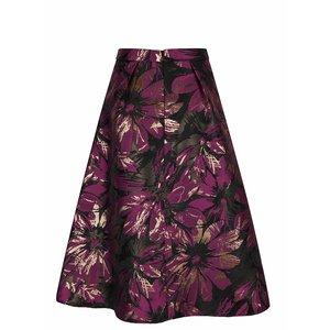 Fustă neagră cu imprimeu floral violet Miss Selfridge la pretul de 244.99