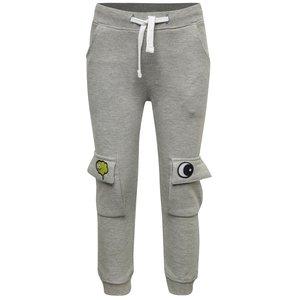 Pantaloni sport gri melanj cu broderie 5.10.15. pentru băieți