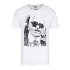 Tricou alb ONLY & SONS Celeb din bumbac cu print