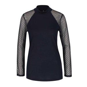 Bluză albastru închis cu mâneci din plasă ONLY Lulu la pretul de 91.99