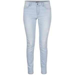 Jeanși slim fit albastru deschis cu aspect uzat Noisy May Lucy la pretul de 179.99