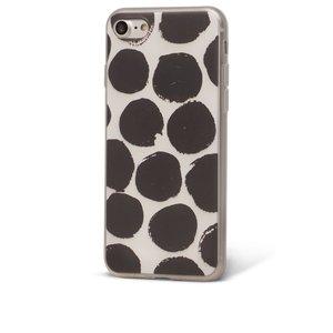 Husă alb cu negru Epico Dotsie pentru iPhone 7