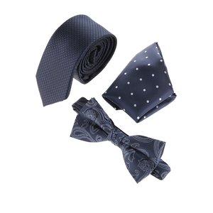 Set cravată & papion & batistă albastru închis Jack & Jones Jacnecktie la pretul de 139.99