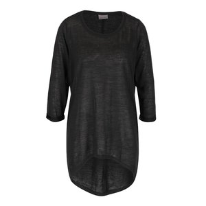 Vero Moda, Bluză gri închis cu mâneci trei sferturi Vero Moda Vita