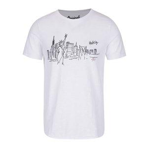 Tricou alb Jack & Jones City din bumbac cu print la pretul de 69.99