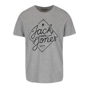 Tricou gri Jack & Jones Richard cu print la pretul de 45.99