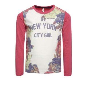 Bluză roz & crem North Pole Kids pentru fete cu print la pretul de 71.99