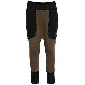 Pantaloni kaki unisex 3FnkyKids din bumbac cu detalii negre la pretul de 84.99