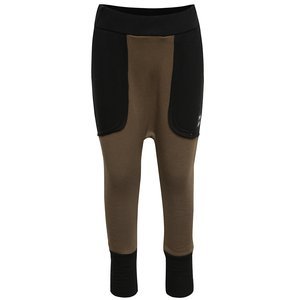 Pantaloni kaki unisex 3FnkyKids din bumbac cu detalii negre