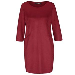 Rochie roșu bordeaux Alchymi din catifea cu buzunare la pretul de 204.99