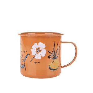 Cană Rosehip Magpie portocalie cu imprimeu la pretul de 64.99