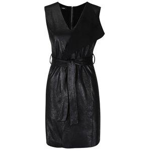 Rochie neagră Alchymi cu aspect peliculizat