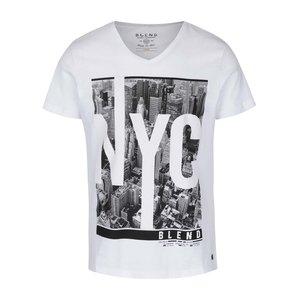 Tricou alb cu imprimeu Blend