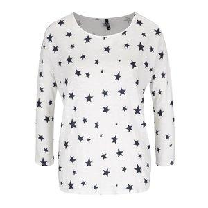 Bluză crem cu imprimeu stele Haily´s Hilly