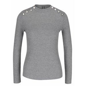 Bluză gri Haily´s Rina cu nasturi decorativi argintii