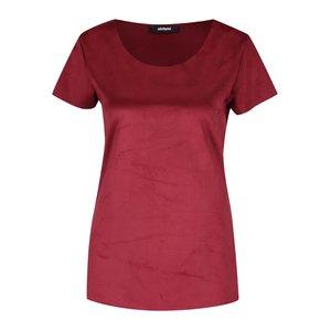 Tricou roșu bordeaux Alchymi din catifea la pretul de 129.99