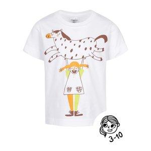 Tricou alb ZOOT Kids - Pipi din bumbac cu print