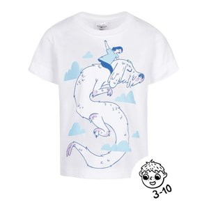 Tricou alb ZOOT Kids – Neverening story din bumbac cu print la pretul de 39.99