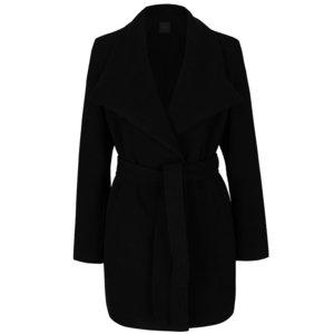 Palton negru ZOOT cu cordon și guler cu revere la pretul de 254.99