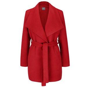 Palton roșu ZOOT cu cordon și guler cu revere la pretul de 254.99