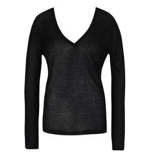 Bluză neagră VILA Loca cu deconteu în V la pretul de 124.99