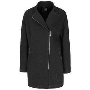 Palton gri ZOOT cu guler cu revere și model discret la pretul de 269.99