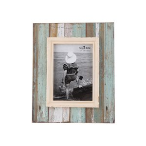 Ramă foto vintage turcoaz cu maro Sass & Belle