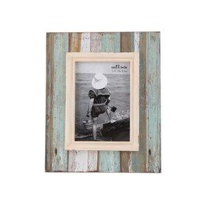 Sass & Belle, Ramă foto vintage turcoaz cu maro Sass & Belle