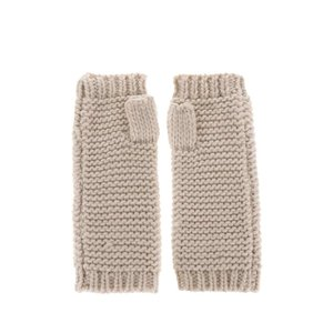 Mănuși crem VILA Craft