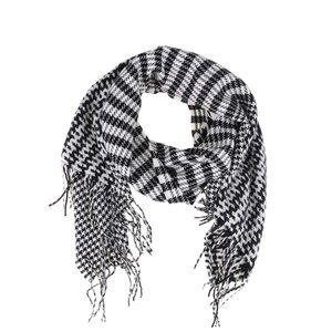 Eșarfă negru & alb VILA Edel cu imprimeu la pretul de 124.99