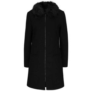 Palton negru cu guler din blană artificială Share Vero Moda la pretul de 409.99