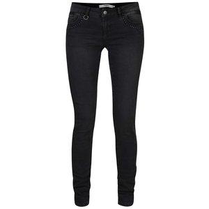 Vero Moda, Jeanși slim fit negri cu detalii metalice Vero Moda Five