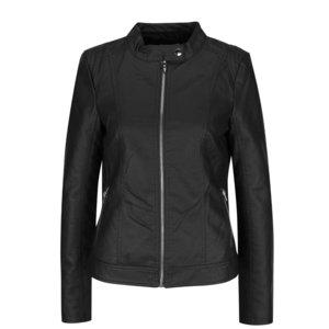 Jachetă neagră VILA Aya cu aspect de piele la pretul de 229.99