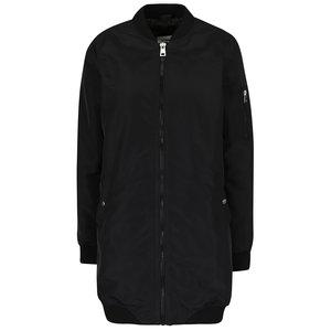 Jachetă bomber lungă neagră Dicte Vero Moda