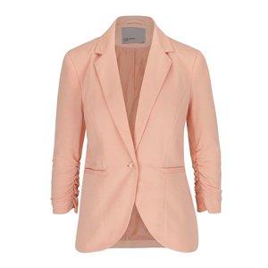 Vero Moda, Sacou roz piersică cu mâneci trei sferturi Vero Moda Jinkly
