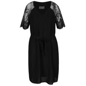Rochie neagră cu mâneci din dantelă Vero Moda Laural la pretul de 139.99