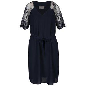 Rochie albastru închis cu mâneci din dantelă Vero Moda Laural