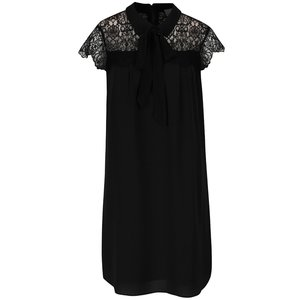 Rochie neagră cu detalii din dantelă Vero Moda Marie