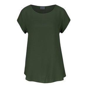 Bluză verde închis Vero Moda Boca cu mâneci scurte la pretul de 69.99