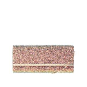 Geantă plic roz cu particule strălucitoare Dorothy Perkins la pretul de 109.99